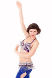 Go-go dancer in action Royalty Free Stock Photos