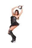 Go-go dancer with headphones Royalty Free Stock Photo