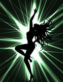 Go-go dancer and laser show Royalty Free Stock Photography