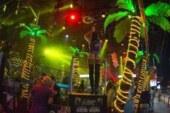 Go-go dancer and lights at Congo bar Royalty Free Stock Photos