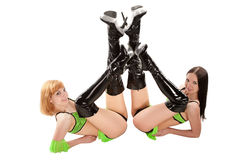 Go-go dancers Royalty Free Stock Images