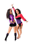 Go-go dancers duo Royalty Free Stock Photos
