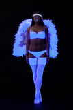 Go-go girl in sexy angel costume Royalty Free Stock Image