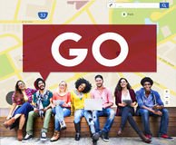 Go Going Navigation Direction Concept Royalty Free Stock Images