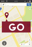 Go Going Navigation Direction Concept. Go Going Navigation Direction Location Stock Photography