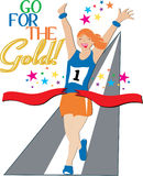 Go For The Gold! Stock Photo