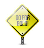 Go for gold sign illustration design Royalty Free Stock Photos