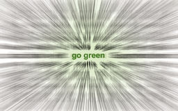 Go green! Royalty Free Stock Image