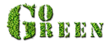 Go Green. Concept design isolated on white Royalty Free Stock Photos