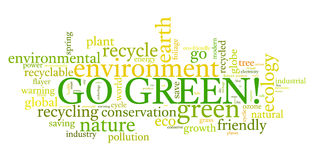 Go Green!. Go Green. Words cloud about environmental conservation Royalty Free Stock Photography