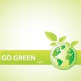 Go Green royalty free illustration