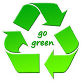 Go green!. Go green, recycle, and care about the planet Stock Photos