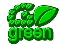 Go green Stock Photography