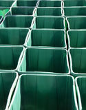 Go Green. Recyling bins are offered during a local campaign to recycle Royalty Free Stock Image