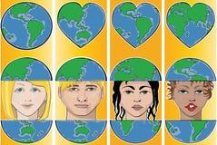 Go Green. Earth Day, World map Vector Illustration