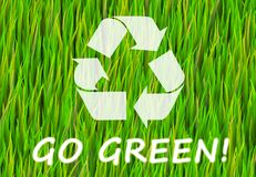 Go Green. And Natural Now Abstract Background Royalty Free Illustration