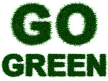 Go Green royalty free illustration