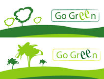 Go green. Illustration banners on white Stock Image