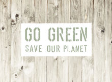 Go Green Abstract Ecology Poster Royalty Free Stock Images