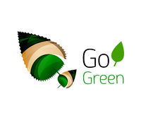 Go green abstract nature logo Stock Photos