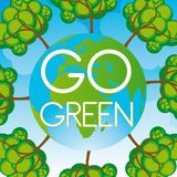 Go green background Royalty Free Stock Photography
