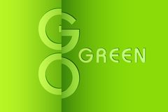 Go Green Background Royalty Free Stock Image