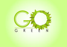 Go green background Stock Photo