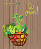 Go green background for vegetarian Stock Photo