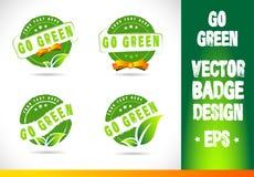 Go green Badge Vector Logo Stock Photos