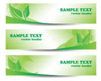 Go green banner Stock Photography