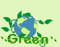 Go Green in beauty of the world!! Royalty Free Stock Photos