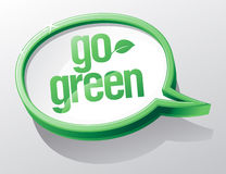 Go green bubble. Stock Photo