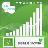 Go green business abstract infographic elements. Abstract infographics template design on idea of green business growth using gradient and transparency Stock Photo