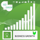 Go green business abstract infographic elements. Abstract infographics template design on idea of green business growth using gradient and transparency Royalty Free Stock Images