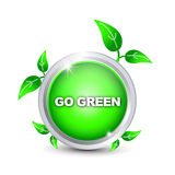 Go Green button Stock Images