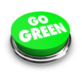 Go Green Button stock illustration
