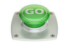Go green button, 3D rendering Stock Photo