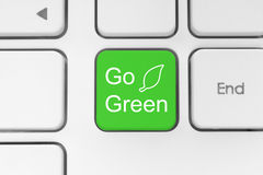 Go green button on keyboard Royalty Free Stock Photography