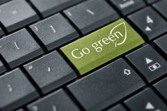Go green button Royalty Free Stock Photography