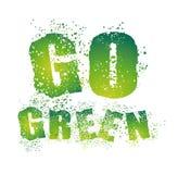 Go Green Card Stock Photo