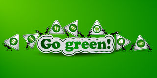 Go Green card Stock Photo