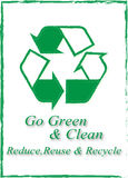 Go green and clean-reduce reuse and recycle. Vector illustration showing the recycling design Royalty Free Stock Photography