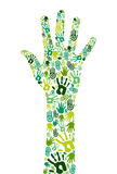 Go green collaborative hands Royalty Free Stock Photos