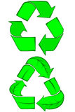 Go Green collection Royalty Free Stock Photography