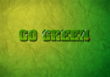 Go Green concept Royalty Free Stock Photo