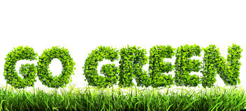 Go green concept Stock Photography