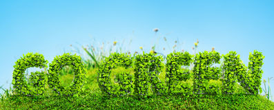 Go green concept Royalty Free Stock Images
