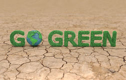 Go Green concept. 3D Rendered Image Royalty Free Stock Photos