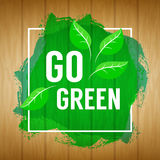 Go green concept. Nature background. Go green design concept. Wo Royalty Free Stock Photo