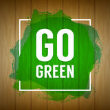 Go green concept. Nature background. Go green design concept. Wo Royalty Free Stock Photography